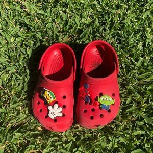 Red gently used Crocs -smoke free home